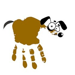 Hairy the Handprint Dog