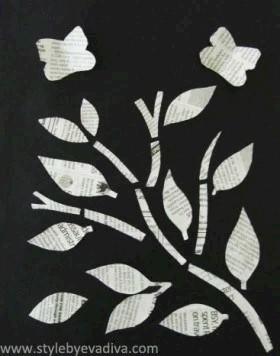 Image of Newsprint Art