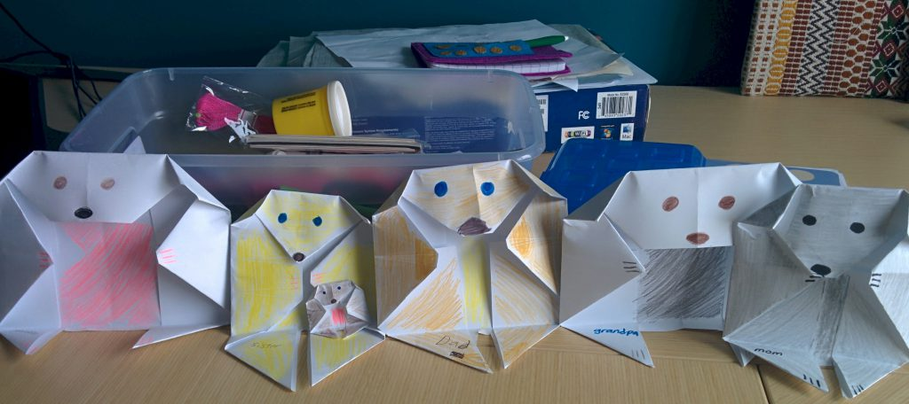 Image of Origami Doggie Family