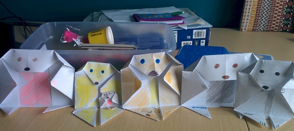 Image of Origami Doggie Family