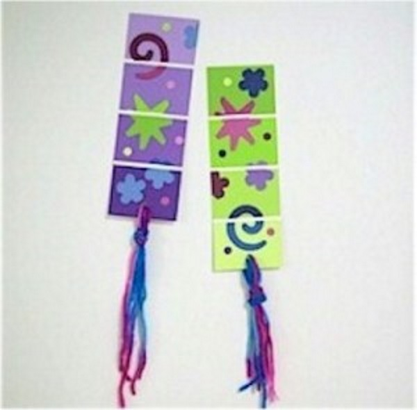 Make bookmarks out of paint samples