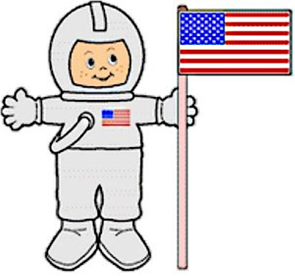 Easy Astronaut Paper Doll for young children