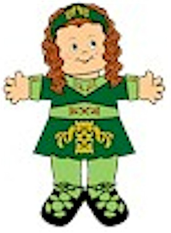 Playtime Irish Step Dancing Paper Doll