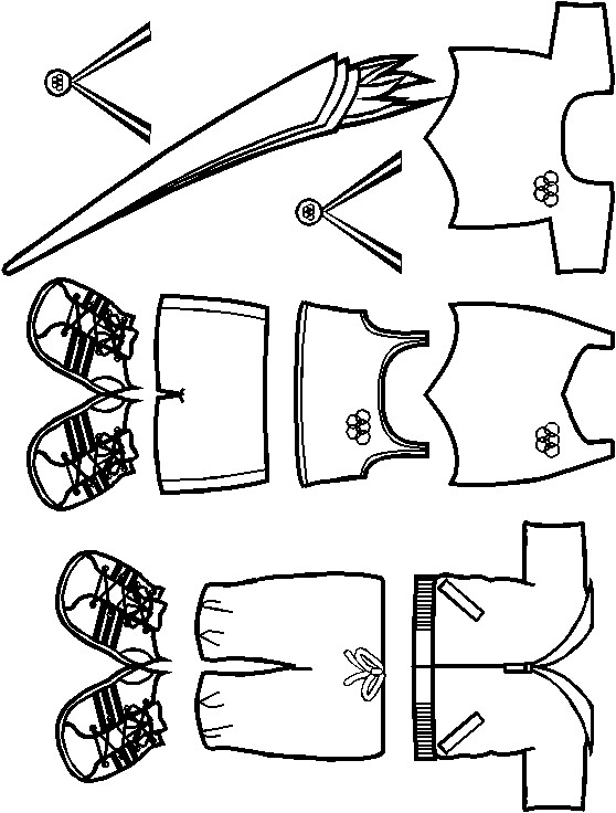 Image of Playtime Paper Doll Olympian Torch Bearer