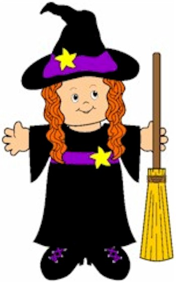 Paper Doll Witch where you can add your own flesh tone and hair