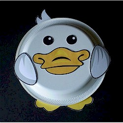 & Paper Plate Duck