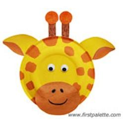 sc 1 st  FreeKidsCrafts & Paper Plate Giraffe