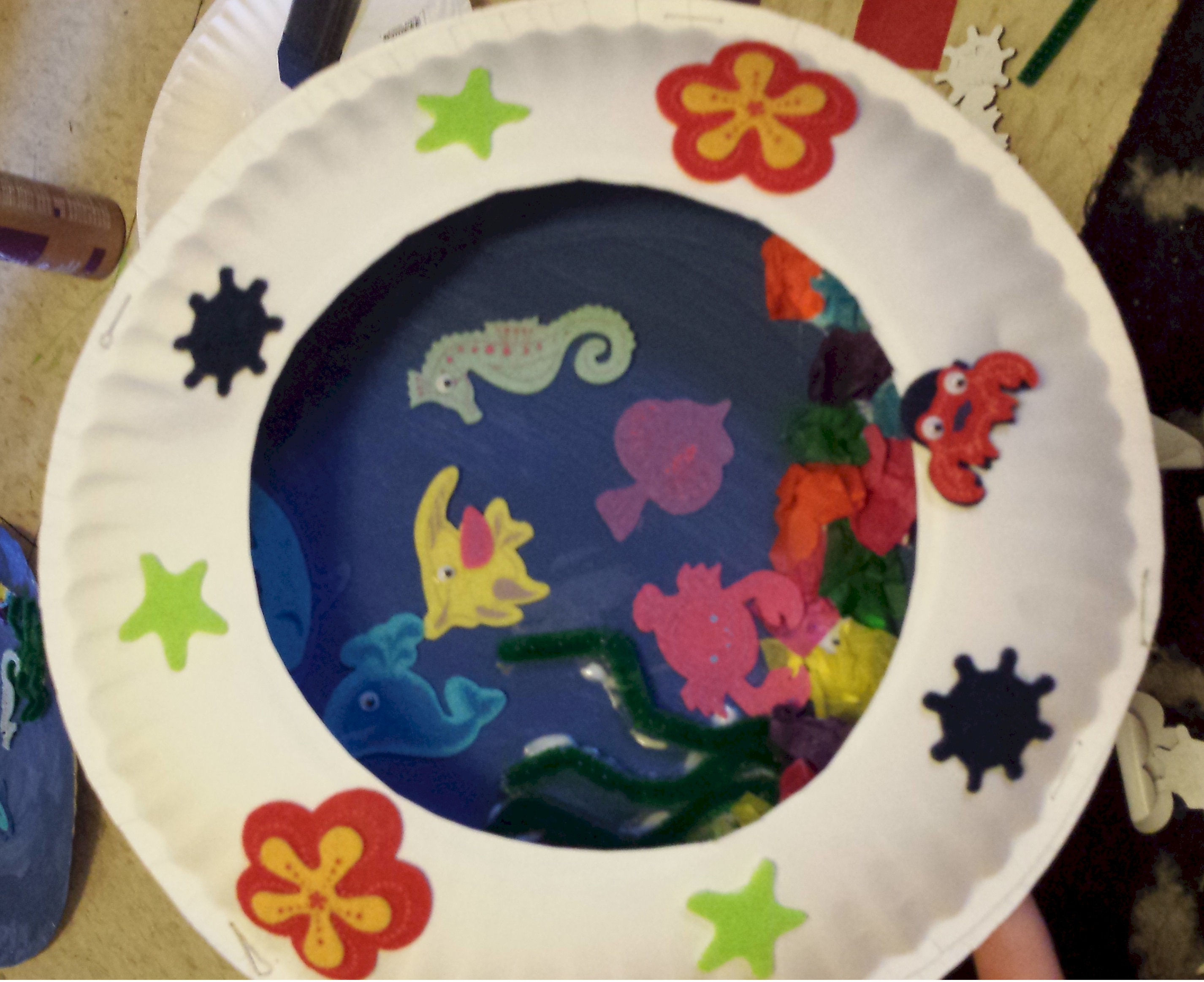 Image of Paper Plate Seascape