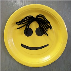 Image of Easy Paper Plate Smiley Face