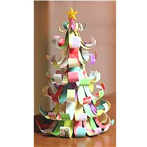 Image of Make A Christmas Tree From Scrap Paper