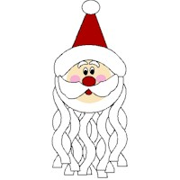 Image of Paper Plate Santa Windsock