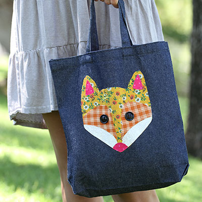 Image of No Sew Patchwork Fox Tote