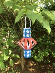 Red, White and Blue Lantern made to blow in the wind.