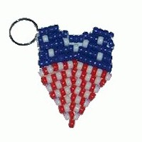 Image of Patriotic Key Chain Craft