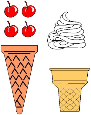 Ice cream cone printable.