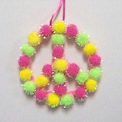 Pom Pom Peace Sign
