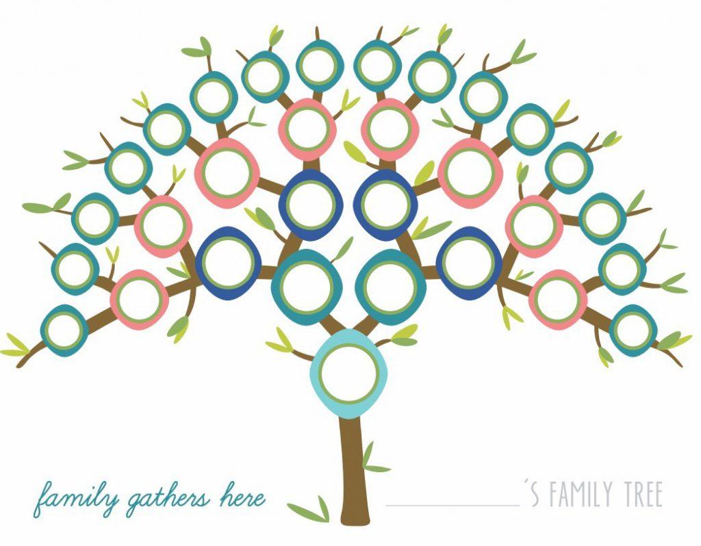 Printable Peacock Family Tree