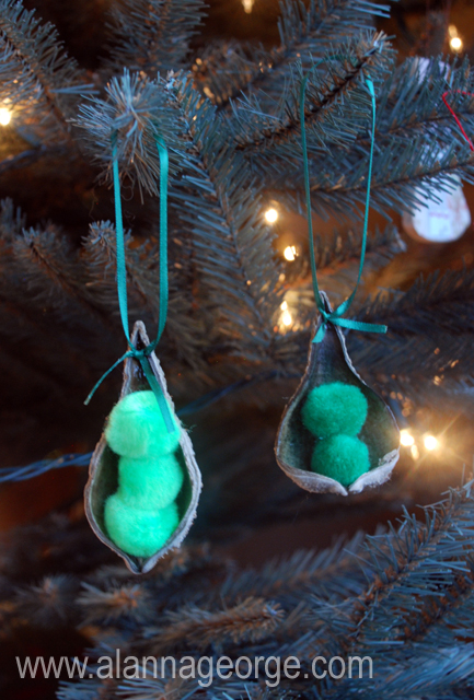 Peapod Ornament