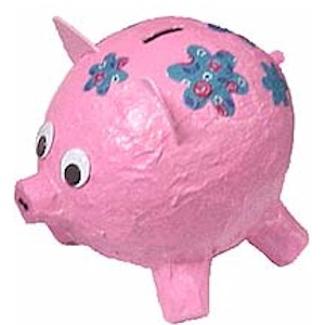 Image of Paper Mache Piggy Bank