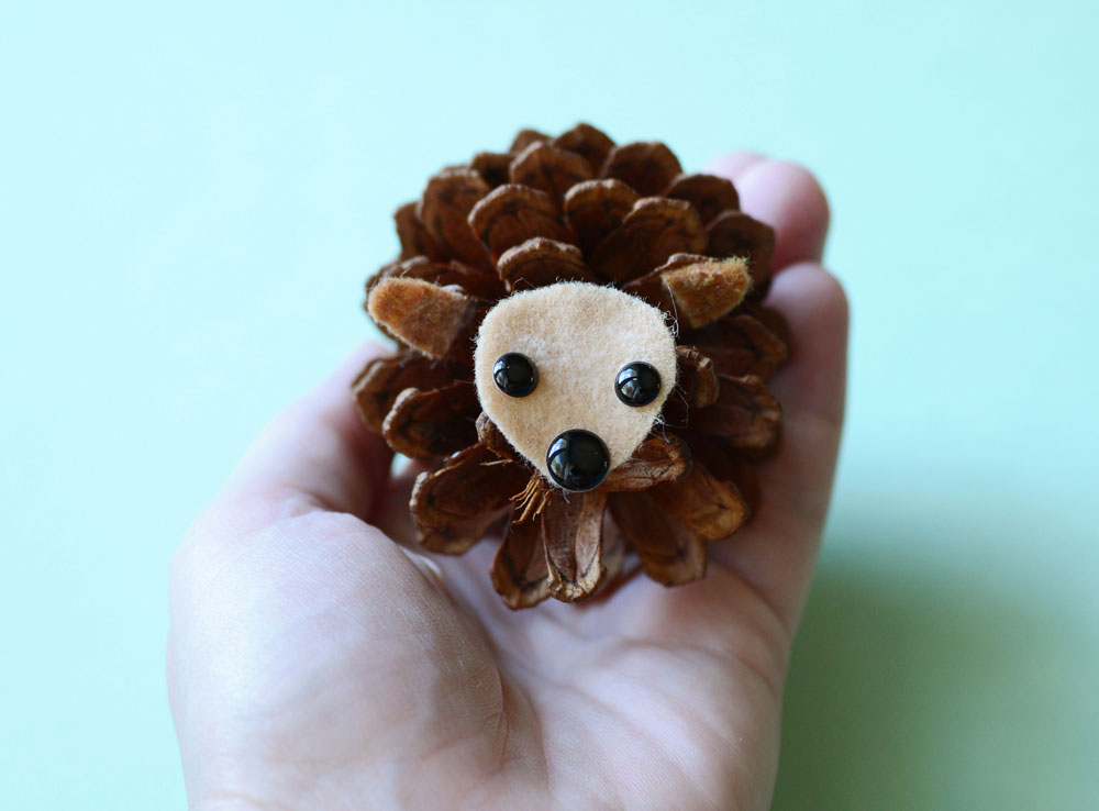 Image of Hedgehogs From Pine Cones