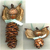 Image of Pine Cone Angels