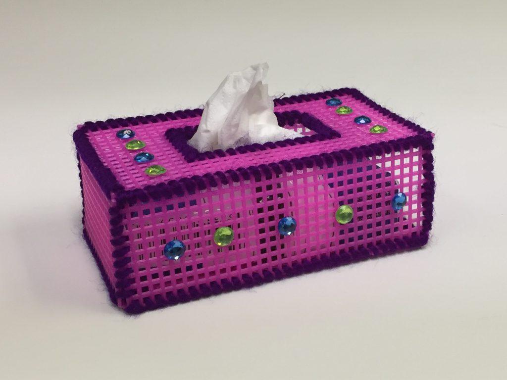 Image of Plastic Canvas Tissue Holder