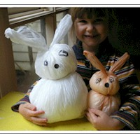 Image of Plastic Bag Rabbit