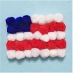 Image of Pony Bead USA Pride Pin