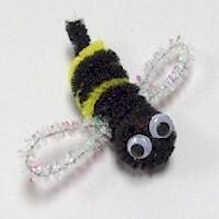 Pom Pom Fuzzy Bee