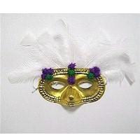 Pom Pom Mardi Gras Mask
