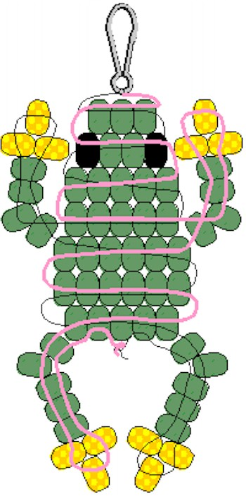 picture regarding Pony Bead Patterns Free Printable called Pony Bead Frog