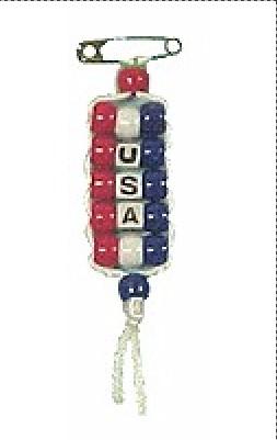 Image of Pony Bead USA Pride Pin