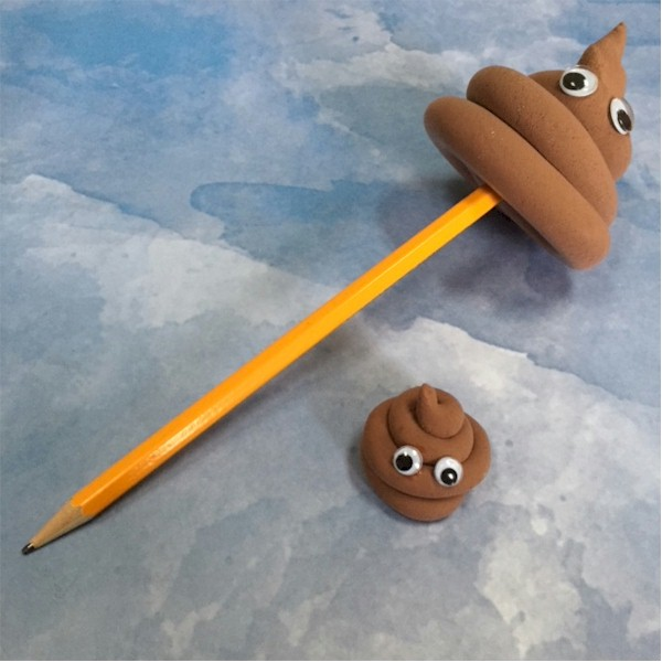 Image of Poop Emoji Pencil Toppers
