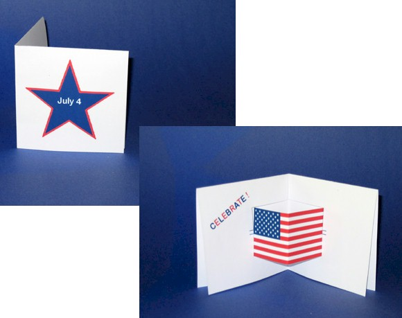 pop-up July 4th card