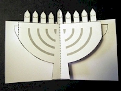 Pop-Up Chanukah Menorah