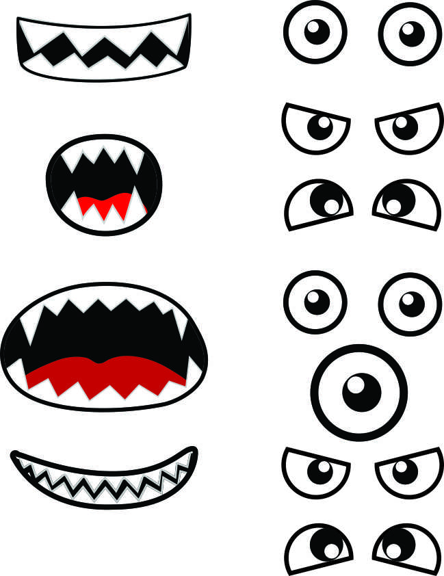 Invaluable image with printable monster faces