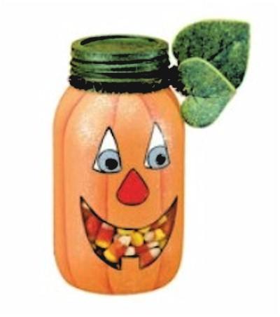 Mason Jar Pumkin Candy Jar