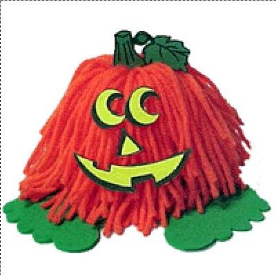 Image of Halloween Pumpkin Yarn Bug