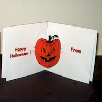 Pumpkin  Pop Up Card