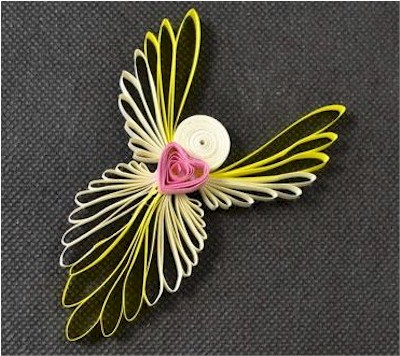 How to make quilled angels with kids
