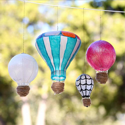 Recycle Light Bulbs into Hot Air Balloons