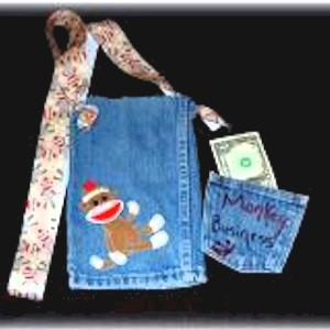Image of Recycled Jeans Purse and Wallet