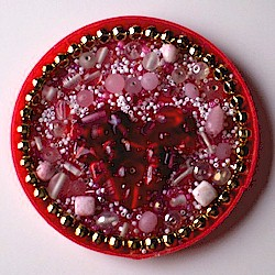 Recycled Valentine Magnet