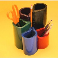 Recycled Telephone Book Pen Organizer