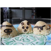 Image of Onigiri Halloween Rice Balls