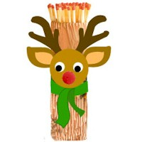Rudolph Fireplace Matchstick Holder
