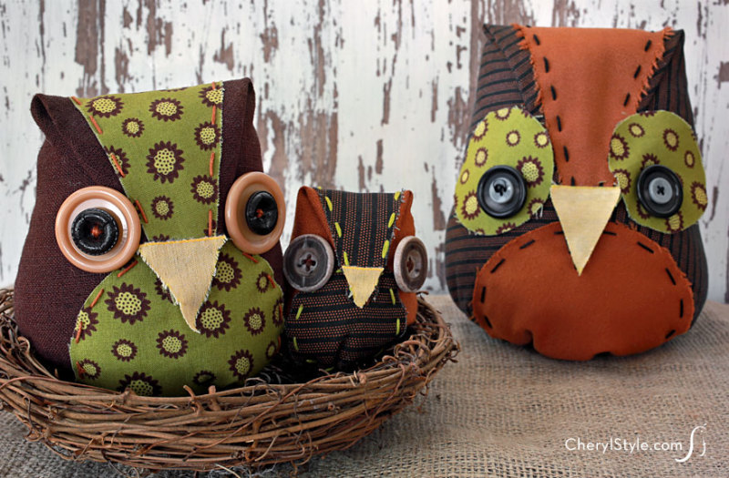 Image of Scrap Fabric Owl