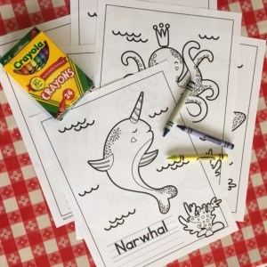 Sea Life coloring pages for young children