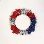 Image of Patriotic Tissue Paper Wreath