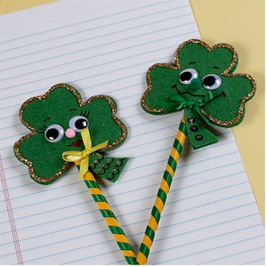 Image of Shamrock Pencil Toppers